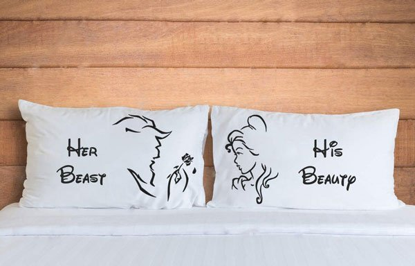 Beauty And Beast Pillow Cases