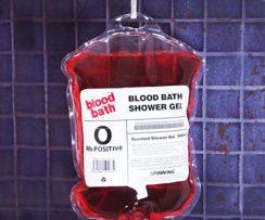 Blood Bag Shower Gel
