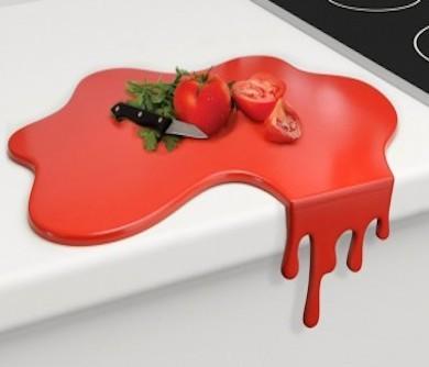 Blood Splash Cutting Board