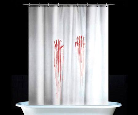Bloody Handprint Shower Curtain