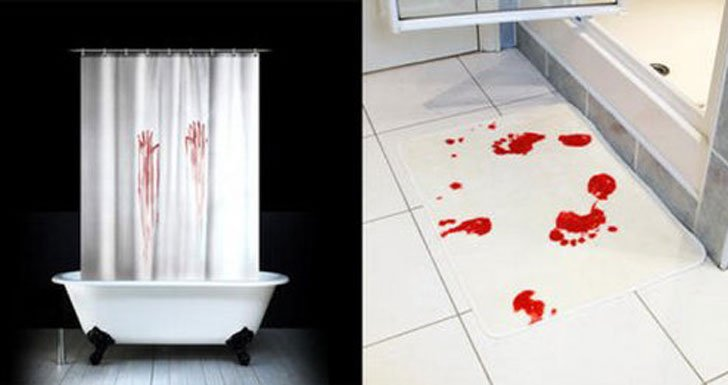 Bloody-Handprint-Shower-Curtains