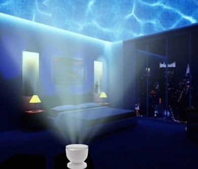 underwater projection night light awesome stuff 365. Black Bedroom Furniture Sets. Home Design Ideas