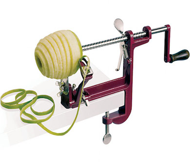 how to use the pampered chef apple peeler corer slicer