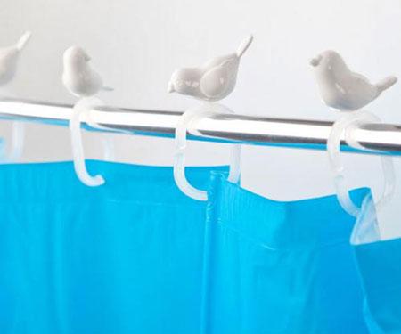 bird shower curtain hooks