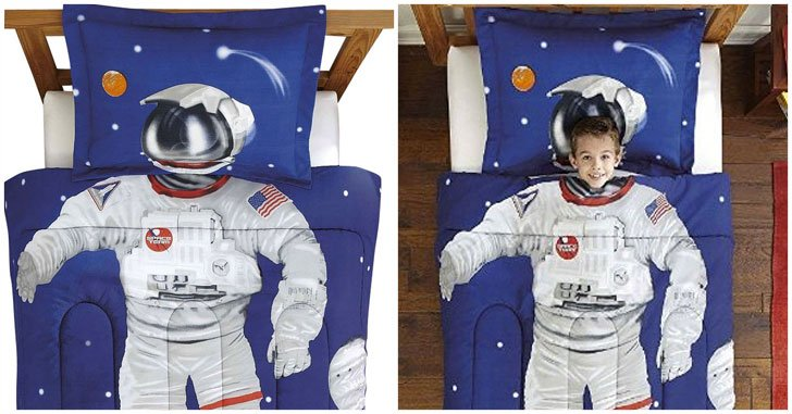Kids Astronaut Bedding Set