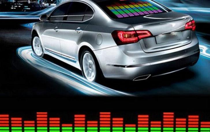 led equalizer car sticker