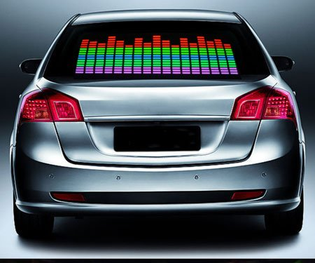 led equalizer car sticker