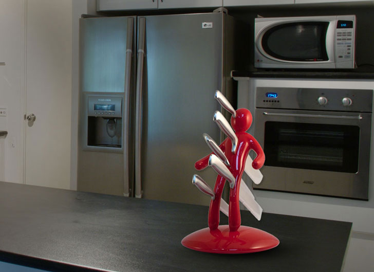 voodoo man knife block set