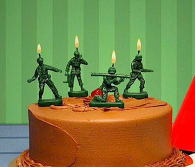Army Men Birthday Candles