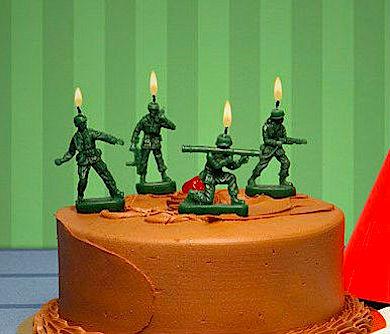Army Men Birthday Candles