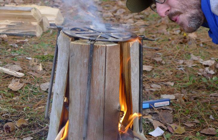 Swedish Log Cooking Stove