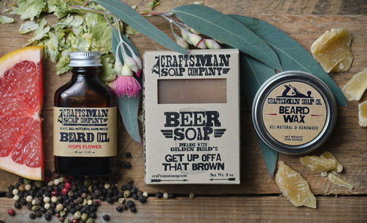 beard and soap oil kit