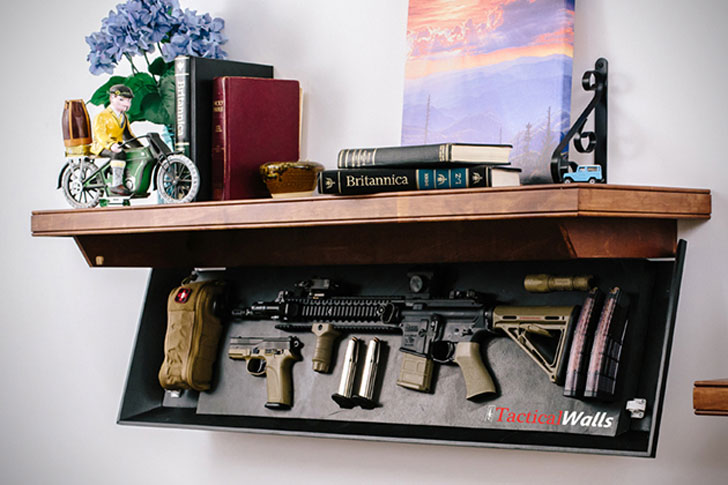 Firearm Concealment Shelving
