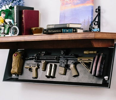 Firearm Concealment Shelving