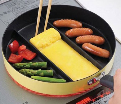 Three-Section Frying Pan