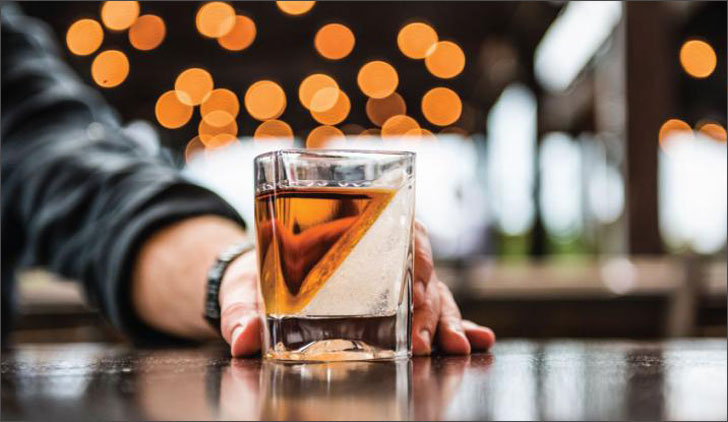 Whiskey Wedge Glass - creative gifts for boyfriends