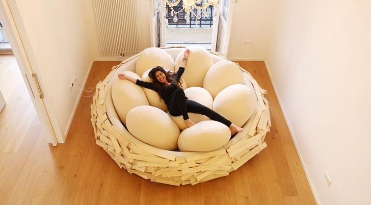 Giant Bird Nest Bed