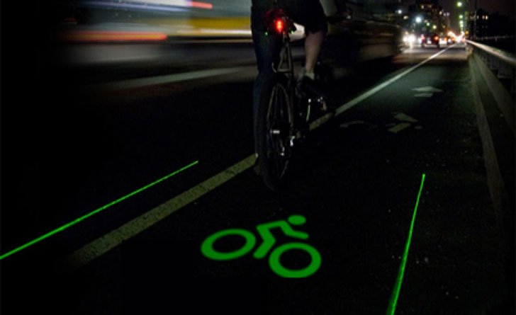 Bike Lane Safety Light - green LED