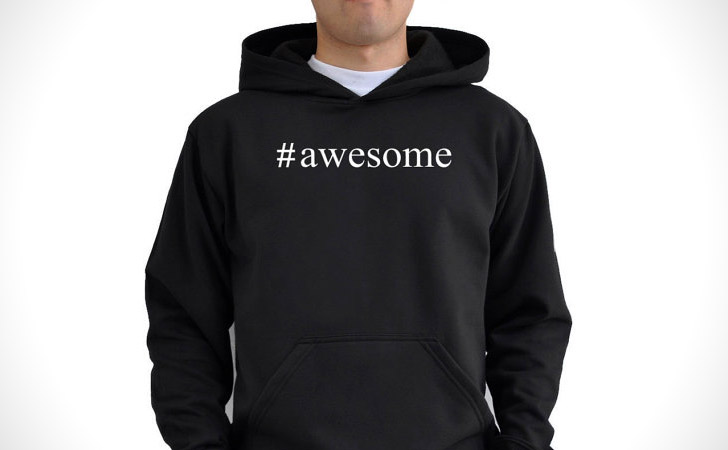 Awesome Hashtag Hoodie
