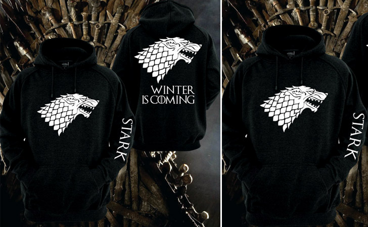 Black and White Stark Hoodie