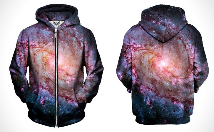 Galaxy Zip Up Hoodies