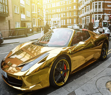 Gold-Ferrari-458-Spider