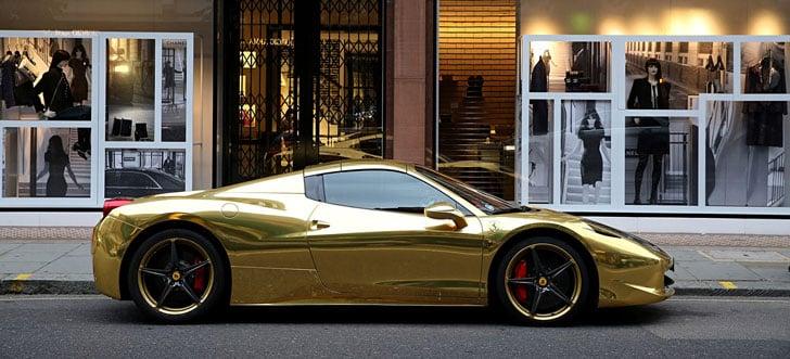 Gold-Ferrari-458-Spider1