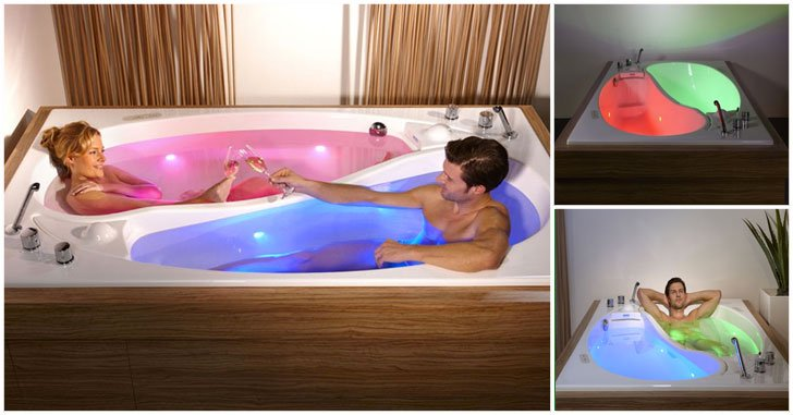 His and Hers Bathtub