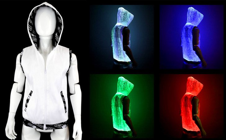 Light-Up Fiber Optic Burning Man Hoodie