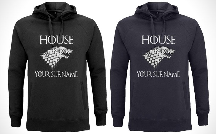 Personalised Game Of Thrones Hoodie