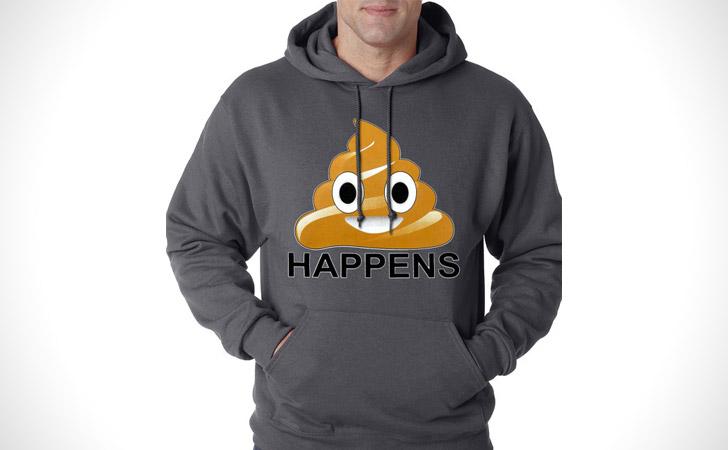 Sh#t Happens Poop Emoji Hoodie