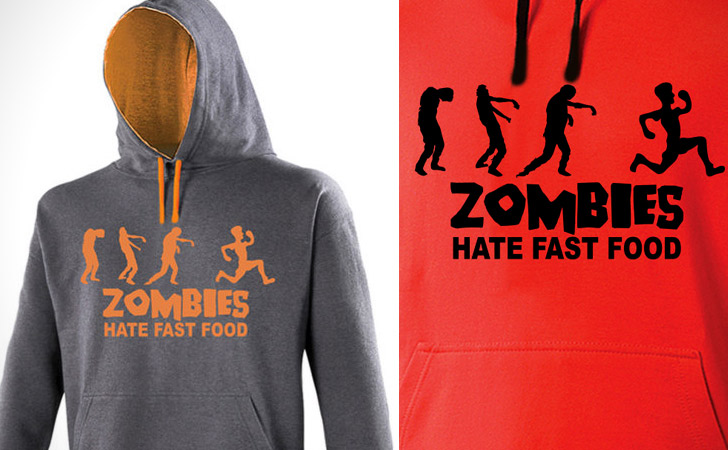 Zombies Hate Fast Food Hoodie