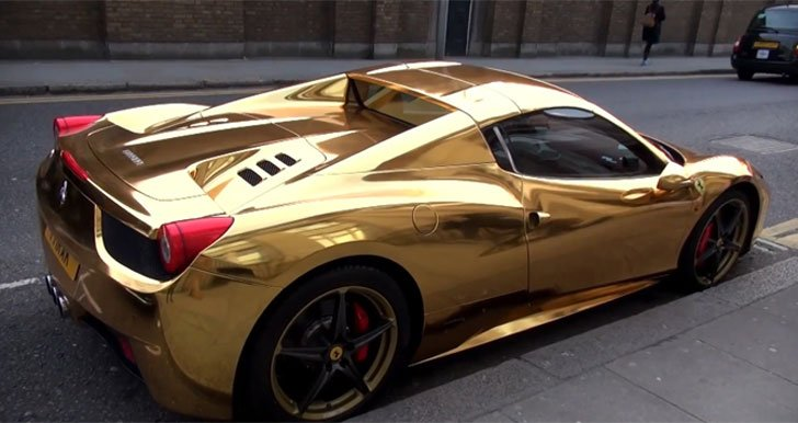 Gold Ferrari 458 Spider Awesome Stuff 365