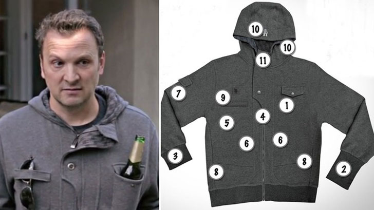 the drinking hoodie