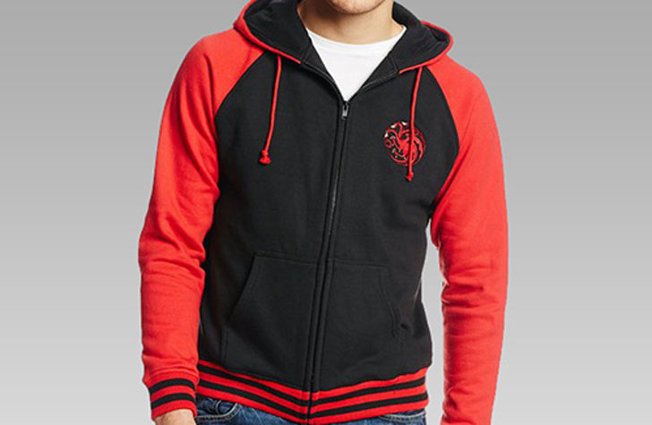 Targaryen Zip-Up Hoodie - Cool Game Of Thrones Gift Ideas