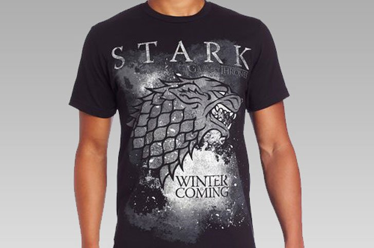 Winter Is Coming Stark T-Shirt - Cool Game Of Thrones Gift Ideas
