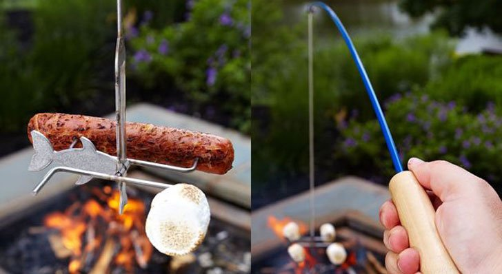 Campfire Fishing Pole