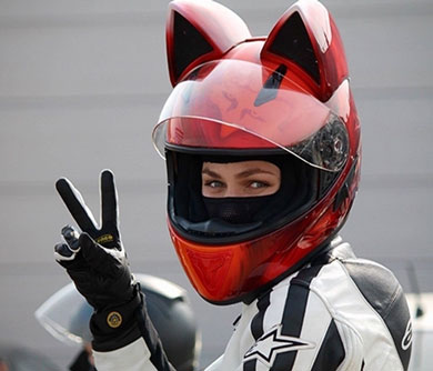 Cat Ears Motorbike Helmet