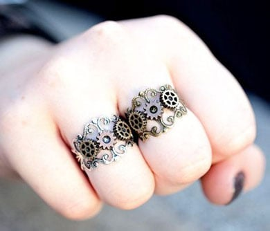 Cog & Gears Steampunk Rings