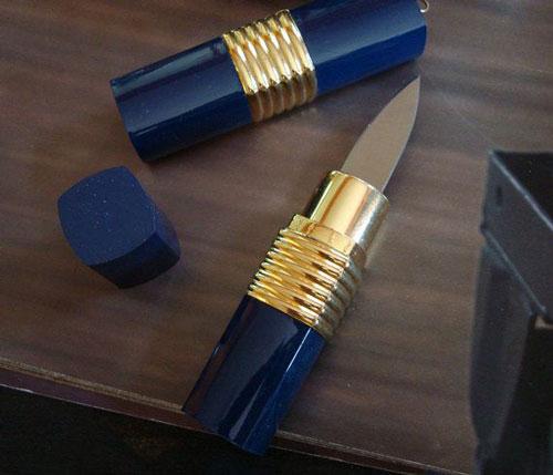 Concealed Lipstick Knife