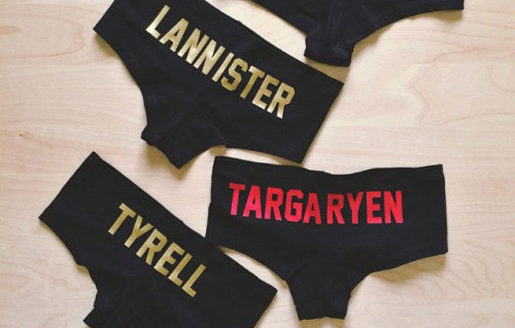 Custom G.O.T Underwear - Cool Game Of Thrones Gift Ideas