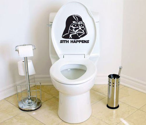 Darth Vader Toilet Decal