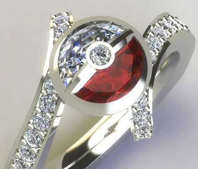 Diamond Pokemon Engagement Ring