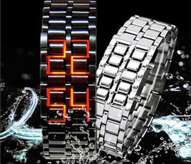 Faceless LED Watch