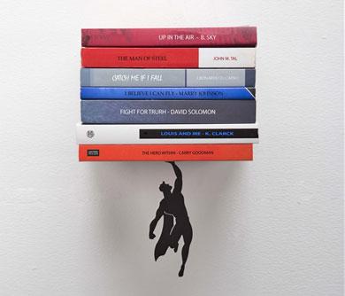 Floating Super Hero BookShelf