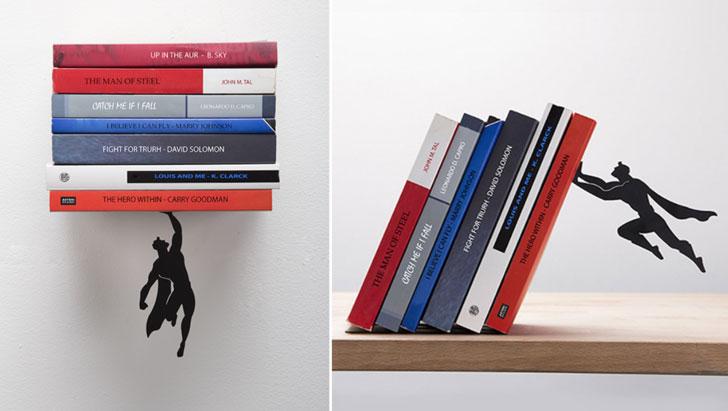 Floating Super Hero BookShelf - Cool bookshelves