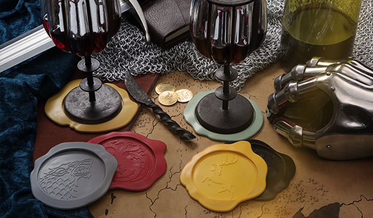 G.O.T Wax Seal Coasters - Cool Game Of Thrones Gift Ideas