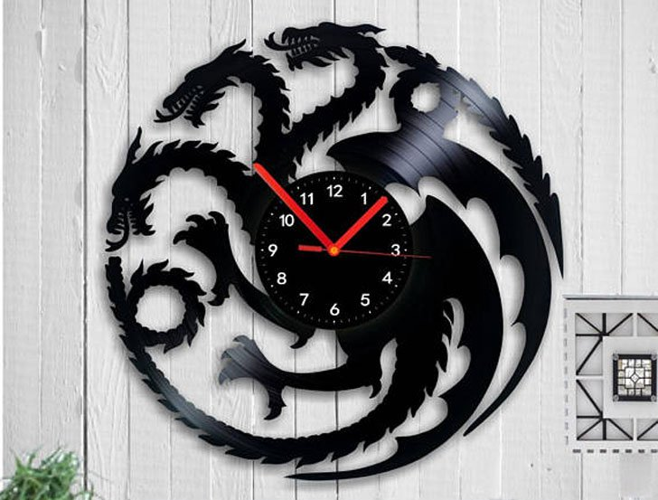 Game Of Thrones Vinyl Record Wall Clock