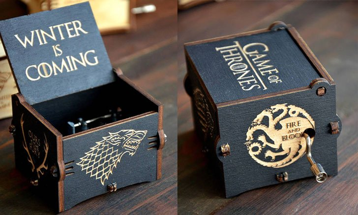 Game Of Thrones Wooden Music Box