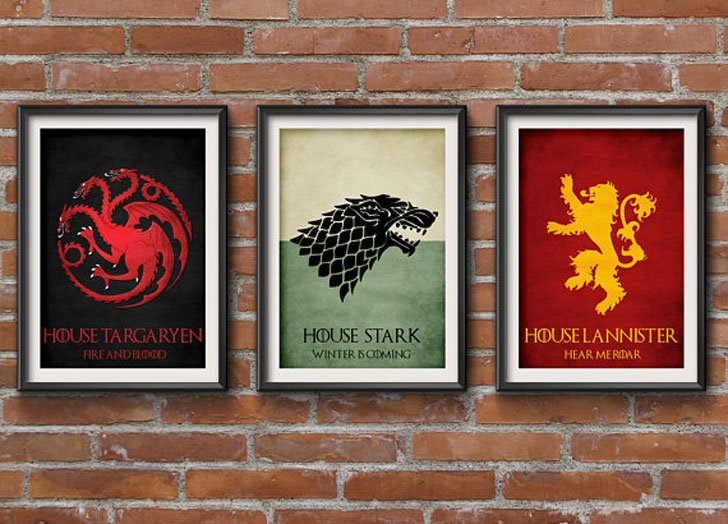 Game of Thrones 3-piece Poster Set